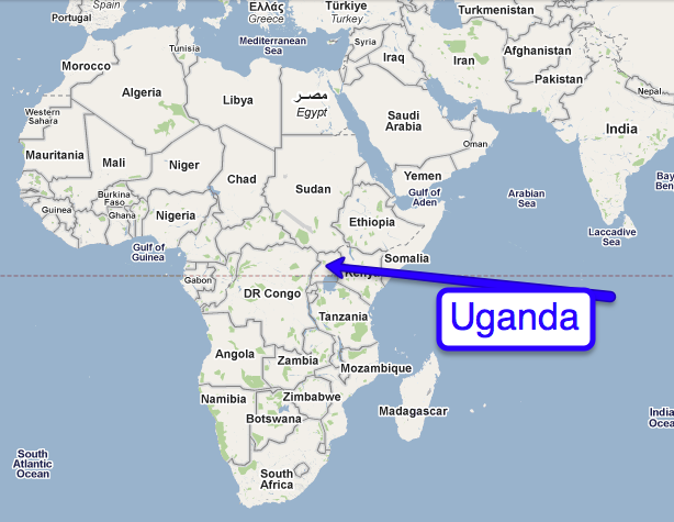 Research In Uganda Out Of The Pharmacy Classroom And Into Africa - Africa map uganda