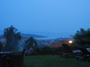 View of Kampala from Cassia Lodge