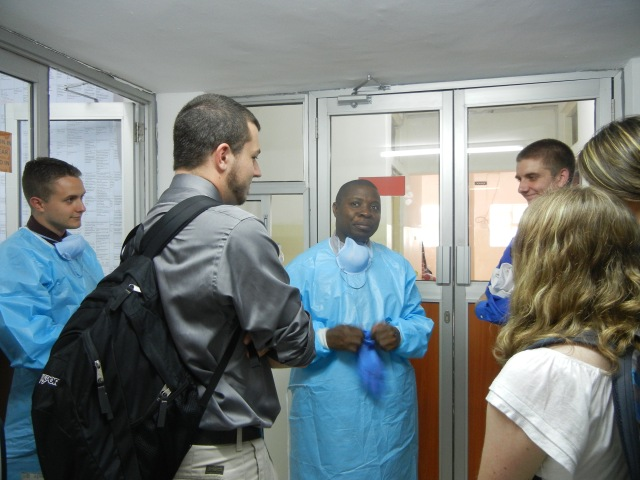 Pharmacist Benjamin at the Uganda Cancer Center