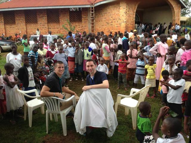 Nikko and Jeff at St. Jude Roman Catholic Church, Masindi, Uganda