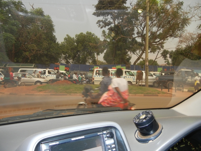 Huge traffic jam in Kampala - a frequent occurence