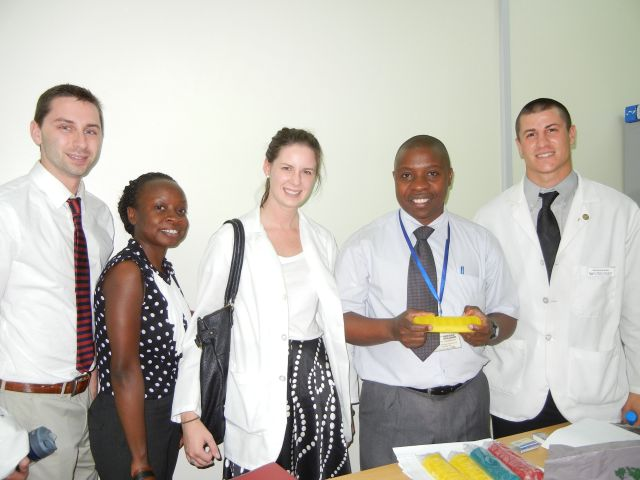 We brought pill boxes to donate to the Uganda Cancer Institute- Benjamin will use them to dispense medications to the in-patients.