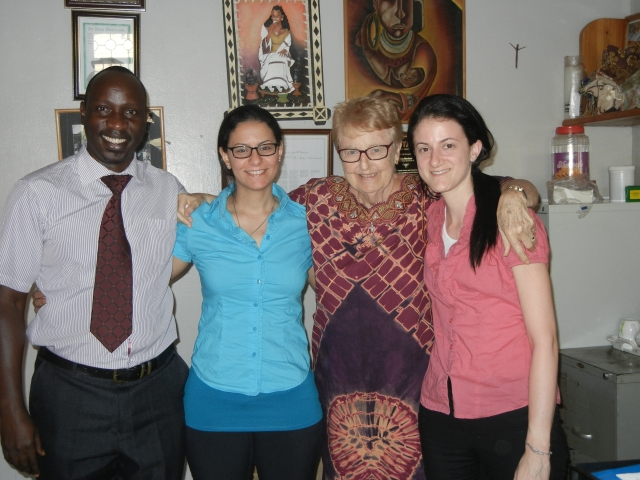Dr. Eddie Mwebesa, the Clinical Director, Sammi, Dr. Merriman, Jenna