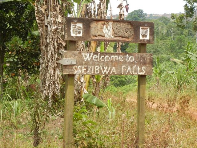 Ssezibwa Falls Sign