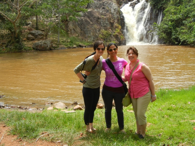 A day of respite from the heat of Kampala at Ssezibwa Falls on the way to Jinja (Jenna, Sammi, KarenBeth)
