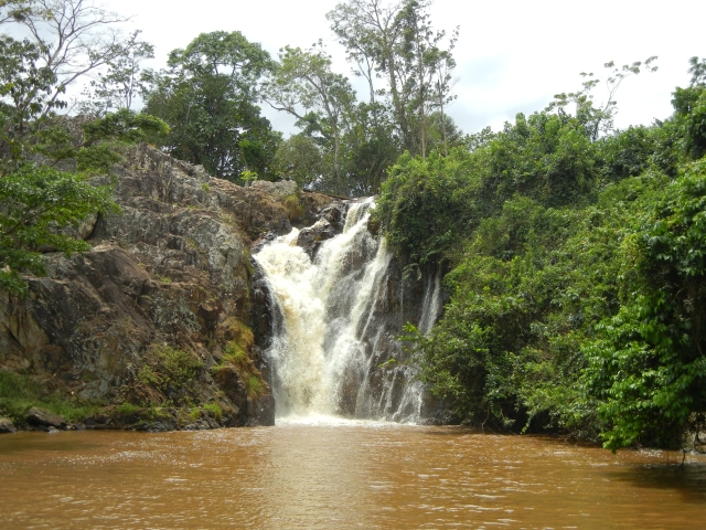 Ssezibwa Falls, on the road from Kampala to Jinja, Uganda
