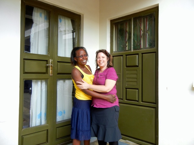 Irene and me outside her front door