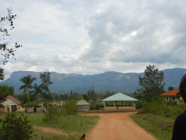 View of Mt. Elgon, home of Sipi Falls, from Mbale