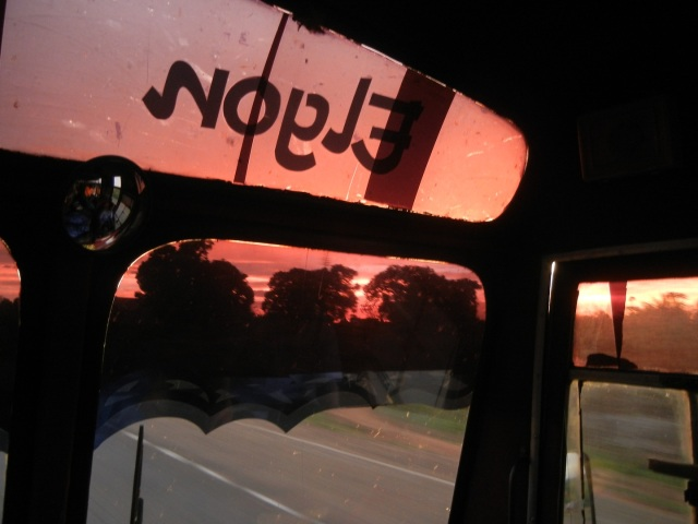 A view of the sunset on our ride back to Kampala