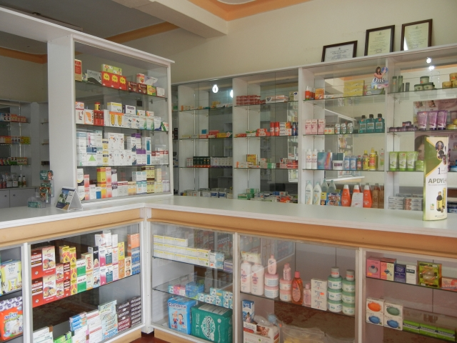 The inside of Vicky's Pharmacy. See how nice and neat it is?