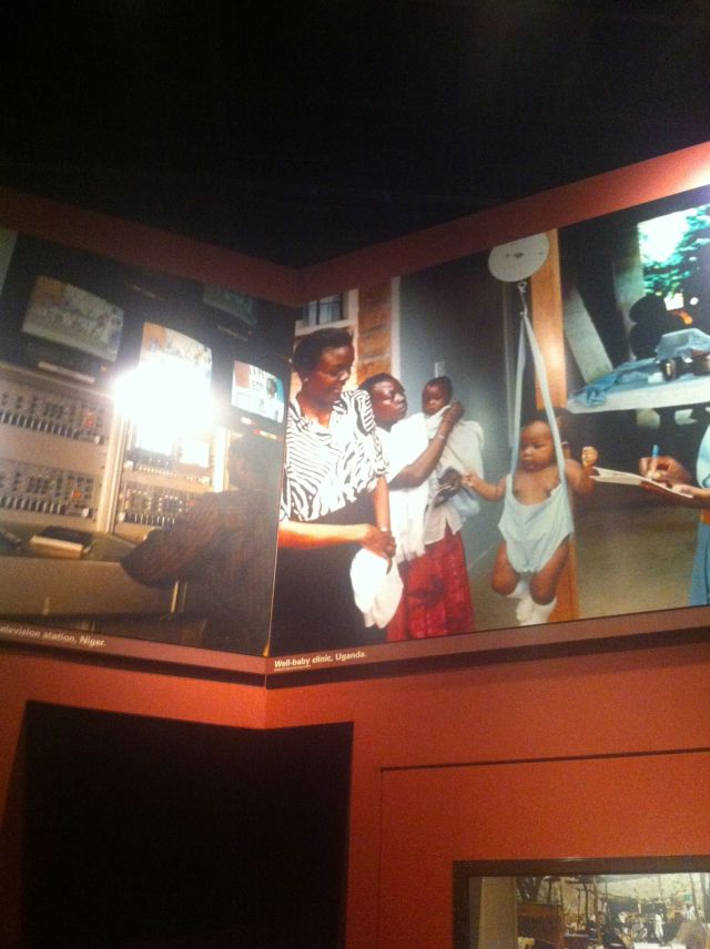 This is a photo hanging in the Smithsonian Museum of Natural History of the former VP of Uganda,  Dr. Specioza Kazibwe