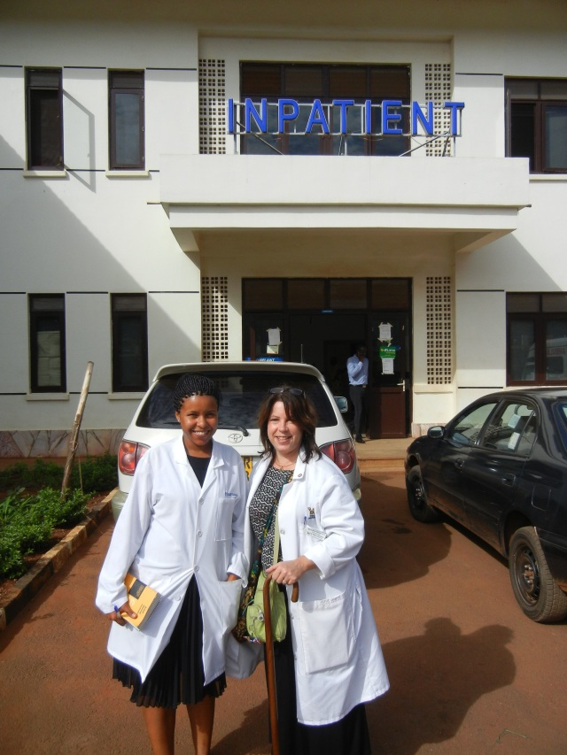 Vicky and Me outside Naguru Hospital- this was taken in Oct 2013 during my last visit to Uganda