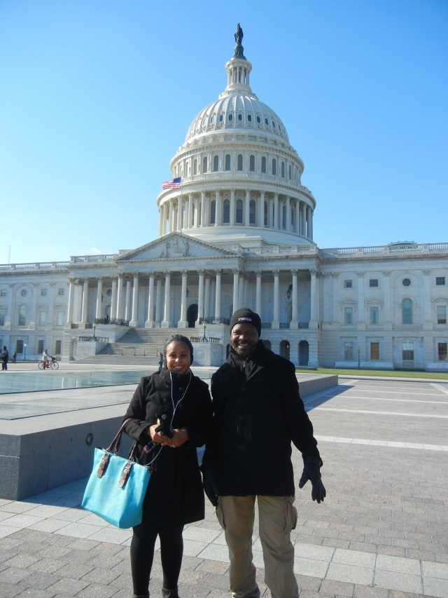 Vicky and Patrick in front of the US Capitol Building