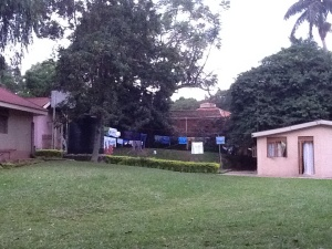 This is the Visiting Scholar House complex at Makerere University,  the House I stay in is on the right side, the door you see is my entrance.
