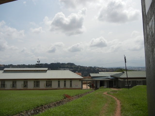 There is a beautiful view overlooking Kampala from the Upper Campus