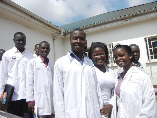 Some of the 3rd years near the Pediatric Wards