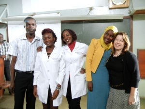 Pharmacy Interns at Mulago Hospital after the Case Presentation on Thursday