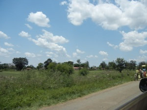 Typical scene along the drive to Eldoret, Kenya (on the Ugandan side of the border)