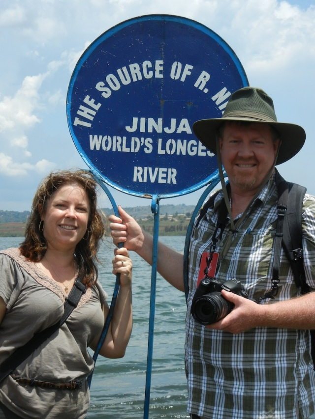 KarenBeth and Jeff at the Source of the Nile River