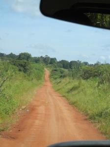 Bumpy road to Murchison Falls.