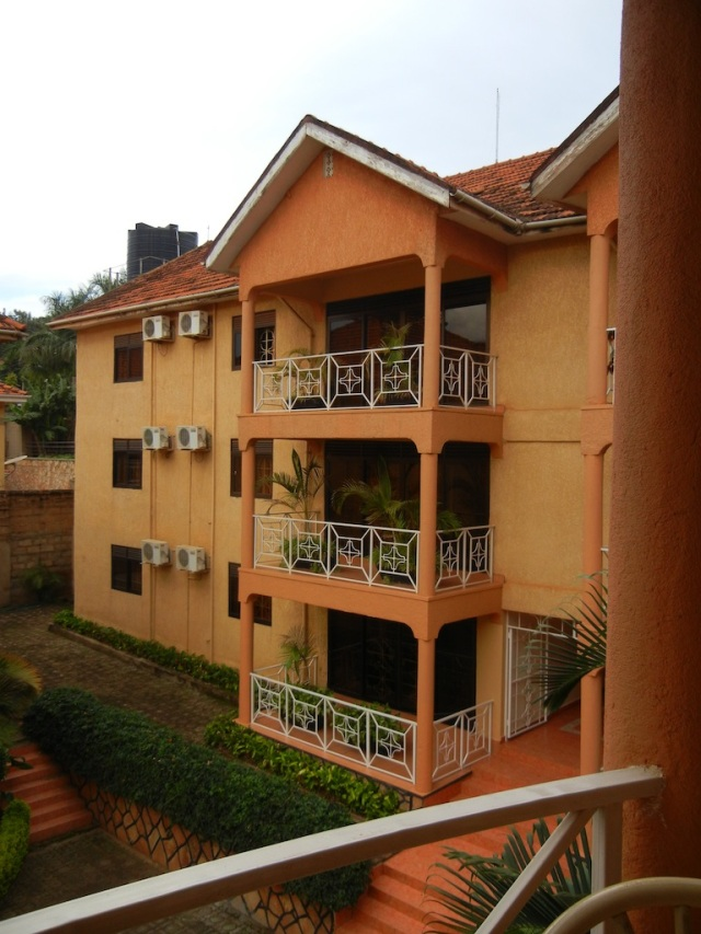 This is the view of the other apartments from the deck of Russ and Kiran's place- a nice oasis from the hustle and bustle of Kampala