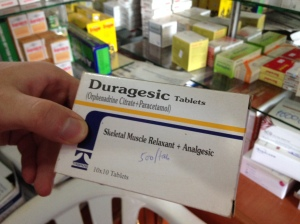 This is a product called Duragesic but it is certainly not the narcotic that has the brand name of Duragesic in the USA. It is not even a painkiller.