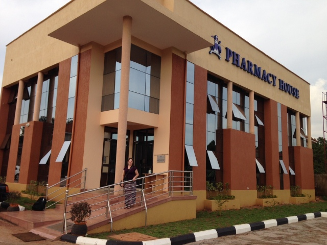 This is the newly built Pharmacy House and Drug Research Center of the Pharmaceutical Society of Uganda- It is quite beautiful!