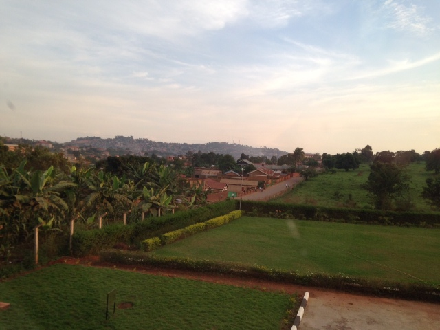This is the scenic view of Kampala from the second floor windows of the Pharmacy House.
