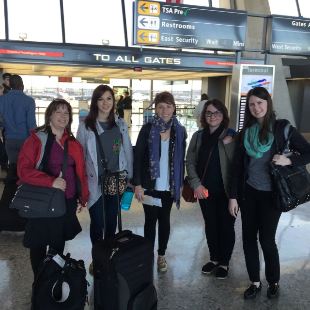 Dr. KarenBeth Bohan, Kristen, Amanda, Lizzie, and Stacy (we really had tons of luggage, but forgot to take the picture before we checked it)