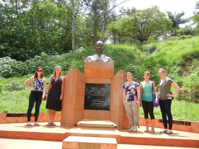 This picture was taken right before we got on the boat to ride to the source of the Nile River. The Mahatma Ghandi statue was erected in 1997 as a reminder that some of his ashes were sprinkled here in the Nile in 1948.