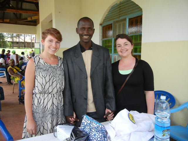 Amanda and Lizzie with Jackson, the excellent translator at All Saints Church