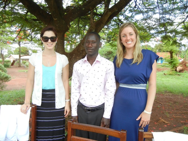 Kristen and Hanna with Godwin, another excellent translator for St. Matthews Church