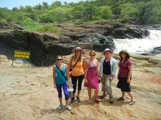 The Wilkes crew at the top of Murchison Falls