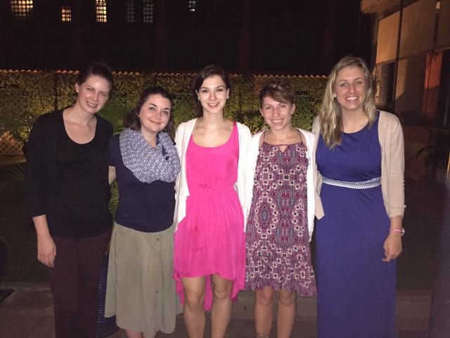 The whole crew after a delicious Italian dinner at Il Patio in Kampala.