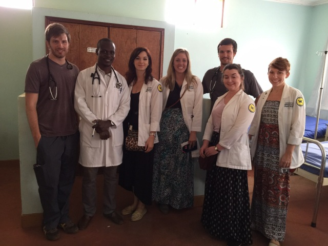 In the Wards at MKMC: Robert (med student), Dr. Godson, Kristen, Hanna, Terrell (med student), Lizzie, and Amanda