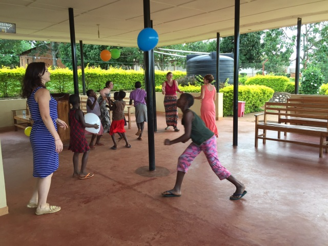 The students worked hard but there was definitely time for some play with the kids at the clinic.