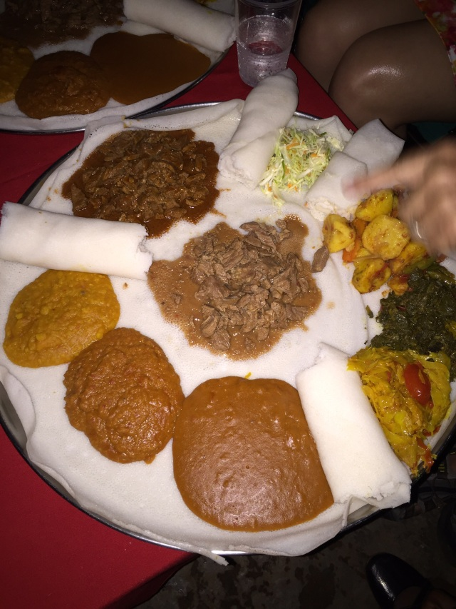 Injera (sometimes spelled Enjera)- This is really delicious!!