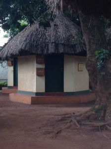 This is an example of the cute huts that are used as patient consultation rooms at the TASO facility in Masindi, Uganda.