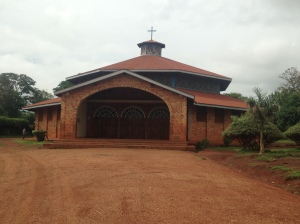 This is St. Jude's Roman Catholic Church where the TASO traveling HIV clinic was held.