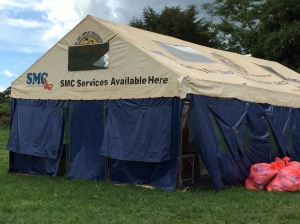 This is one of the Safe Male Circumcision (SMC) tents