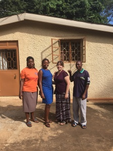 This is the staff of the EdgeHouse, the visiting scholar house on Makerere University campus where we stayed this week. Pictured are Diana, Eva, KarenBeth and Eric. They are wonderful and make staying here a real treat.