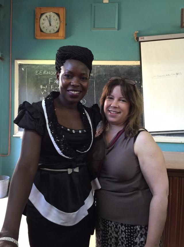 Gonsha and KarenBeth at the Intern Presentation at Mulago Hospital