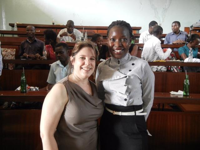 Gonsha and KarenBeth at another Intern Presentation at Mulago Hospital
