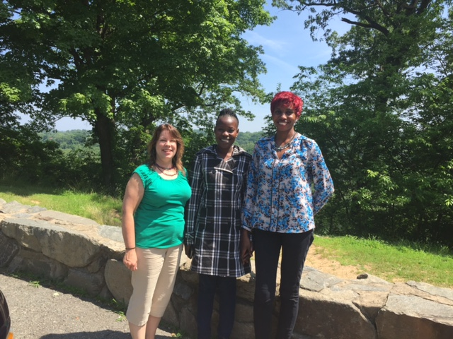 We stopped at a scenic overlook of the Potomac River on our way home from Washington DC but the trees had grown up so much that the river wasn't visible at this point. (KarenBeth, Gonsha, Cathy)
