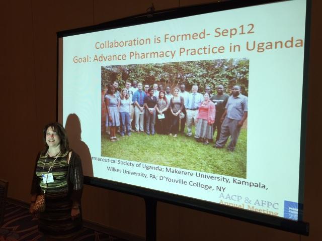 KarenBeth Bohan presents at AACP on Uganda projects