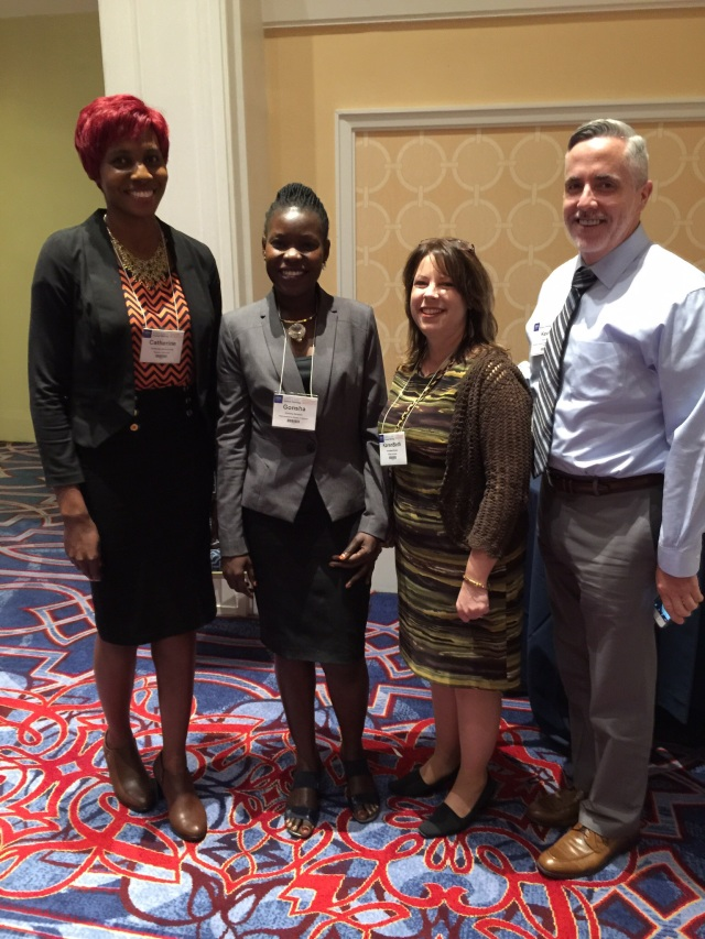 Cathy, Gonsha, KarenBeth and Dr. Kevin Rynn, Associate Dean for Clinical Affairs at Rosalind Franklin College of Pharmacy who also takes students to Uganda for experiential learning