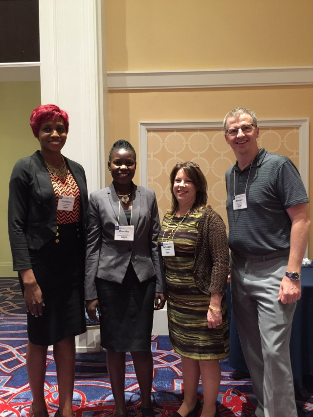 Cathy, Gonsha, KarenBeth, and Dr. Edward Foote, Chair Pharmacy Practice at Wilkes University