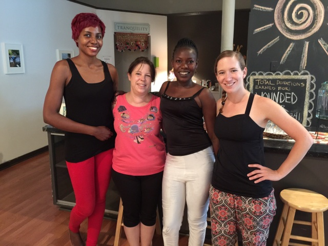 I took Cathy and Gonsha to Yoga at Studio B in Danville, PA. We are pictured with Becky Duignan, the owner and head instructor