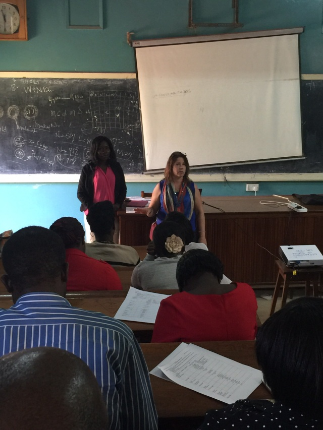Gonsha and KarenBeth talk to the Pharmacy Interns about Clinical Intervention Documentation