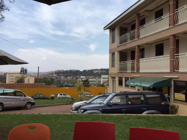One of the beautiful views of Kampala from the IDI